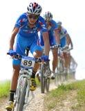 Slowakije, Doh?any - Juli 27, 2010: De berg van het wereldkampioenschap het biking stock fotografie