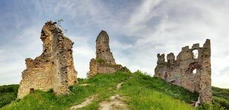 Slowakije - Ruïne van kasteel Korlatko Stock Fotografie