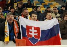 Slowakische Fans Stockbild