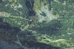 Slowakische Karpatenberge im Herbst Felsenbeschaffenheiten auf Wänden Lizenzfreie Stockfotos