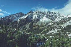Slowakische Karpatenberge im Herbst grüne Hügel mit Oberteilen Lizenzfreie Stockfotografie