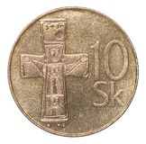 Slowakische Korunamünze Lizenzfreie Stockbilder