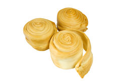 Slowakischer geräucherter Schafmilch-Käse Parenica Stockbilder