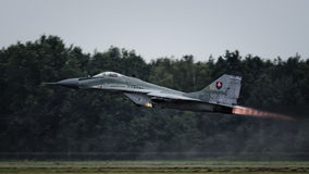 Slowakisches MiG-29 Stockfotos