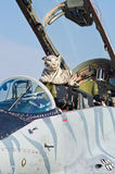 Slowakisches MiG-29 auf Radom Airshow, Polen Lizenzfreie Stockfotografie