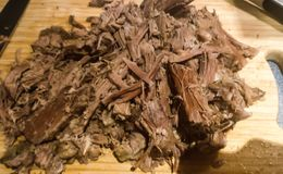 Slowcooked brisket royalty free stock photos