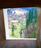 Slowenien durch Loch im Schloss Stockfotos
