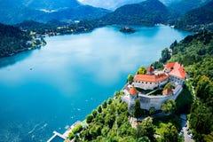 Slowenien - Erholungsort See geblutet lizenzfreie stockbilder