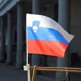 Slowenien-Flagge Lizenzfreie Stockfotos