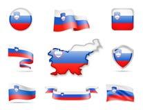 Slowenien kennzeichnet Sammlung Vektor Abbildung