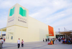 Slowenien-Pavillion in Expo2010 Shanghai China Stockfotografie