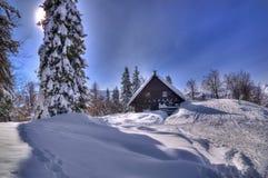 Slowenien - Winterbild stockbild