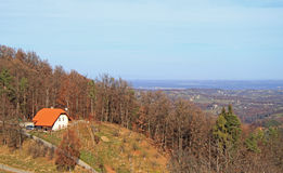 Slowenisch der Landschaft Stadt Maribor fast Lizenzfreie Stockfotos