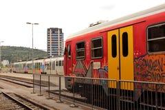 Slowenisch Eisenbahnen Lizenzfreies Stockbild