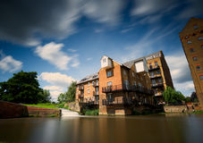 Coxes Lock, former Georgian iron mill, Addlestone. Stock Photo