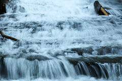Slowing Down. A closeup of one of the many waterfalls in North Carolina Stock Photo