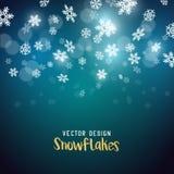 Slowly falling Christmas snowflakes. Background vector illustration Royalty Free Stock Image