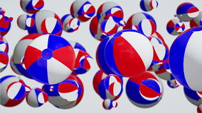 Slowly moving colored toy balls stock footage