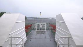 Slowmo del barco de Kiev Ucrania almacen de metraje de vídeo