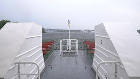 Slowmo do barco de Kiev Ucrânia vídeos de arquivo