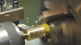 Slowmo Metallgnistor Metalworking och maskinlära arkivfilmer