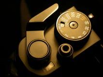 SLR照相机的影片曲柄 免版税库存图片