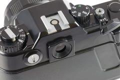 SLR照相机,顶视图 免版税库存照片