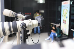 SLR照相机 库存照片