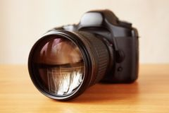SLR camera Stock Images