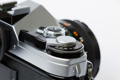 SLR Camera closeup Royalty Free Stock Photography