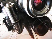 SLR camera and film Stock Photos