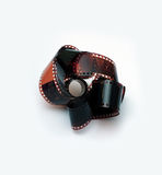 Slr camera with film. Ilm reel isolated on white Stock Image