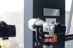 SLR cameras. Photography period of SLR cameras Stock Photos