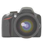 SLR fotokamera stock illustrationer