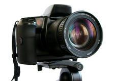 SLR Kamera auf Stativ Stockfoto