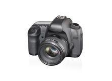 SLR-Kamera auf weißem Hintergrund Lizenzfreie Stockbilder