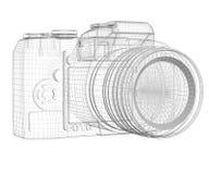 SLR kamera. Druciana rama ilustracji
