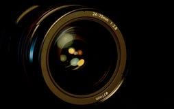 SLR-kameralins Arkivfoto