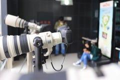 SLR kameror arkivfoton