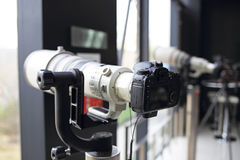 SLR kamery Obrazy Stock