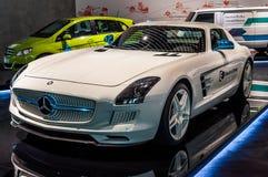 SLS AMG电驱动 免版税图库摄影