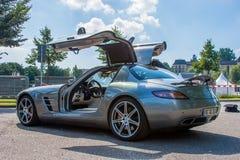 Sls AMG di Mercedes immagine stock