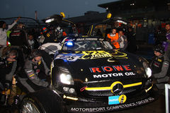 Sls in kuilsteeg, Nuerburgring 2013 Royalty-vrije Stock Afbeeldingen