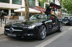 sls mercedes benz amg supercar Стоковое Изображение RF