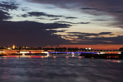 Sląsko-Dąbrowski Bridge - Warsaw, Poland Royalty Free Stock Images