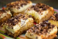SlSlices of walnut cake Royalty Free Stock Photography