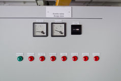 Sludge sieve control panel Royalty Free Stock Photo