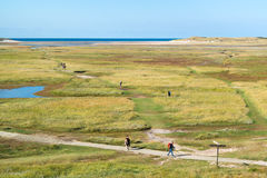 Slufter in dunes of Texel National Park on Texel island, Netherl Stock Image