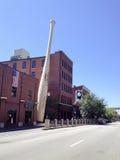 Slugger slår till museet. Mobil telefonbild. Arkivfoton