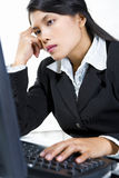 Slugish businesswoman in office Royalty Free Stock Photos